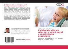 Portada del libro de Calidad de vida en relación a salud bucal y rendimiento académico