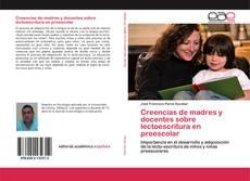 Portada del libro de Creencias de madres y docentes sobre lectoescritura en preescolar