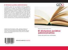 Portada del libro de El dictamen jurídico administrativo