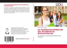 Buchcover von La Institucionalidad de las Académicas Universitarias