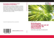 Capa do livro de Estrategias metodológicas en el aprendizaje de Informática
