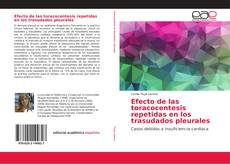 Buchcover von Efecto de las toracocentesis repetidas en los trasudados pleurales