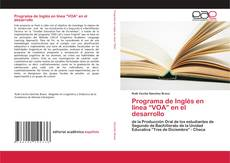 """Portada del libro de Programa de Inglés en línea """"VOA"""" en el desarrollo"""