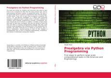 Portada del libro de Prealgebra via Python Programming