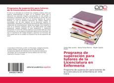Portada del libro de Programa de superación para tutores de la Licenciatura en Enfermería