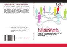 Bookcover of La importancia de la comunicación interna
