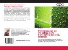 Borítókép a  Instrumentos de investigación: Conceptos básicos, criterios - hoz
