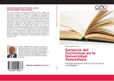 Portada del libro de Gerencia del Curriculum en la Universidad Venezolana