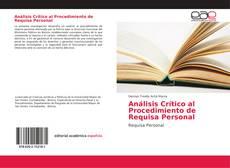 Обложка Análisis Crítico al Procedimiento de Requisa Personal