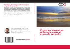 Portada del libro de Vivencias Masónicas, reflexiones para el grado de aprendiz