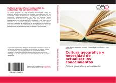 Portada del libro de Cultura geográfica y necesidad de actualizar los conocimientos