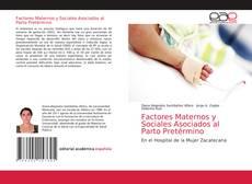 Portada del libro de Factores Maternos y Sociales Asociados al Parto Pretérmino