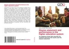 Buchcover von Mission statement and performance in the higher education system