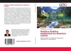 Portada del libro de Politica Publica Ambiental en America Latina