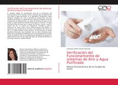 Buchcover von Verificación del Funcionamiento de sistemas de Aire y Agua Purificada