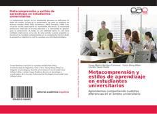 Couverture de Metacomprensión y estilos de aprendizaje en estudiantes universitarios