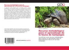 Couverture de Recurso metodológico para el aprendizaje de la fauna de Galápagos