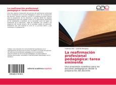 Portada del libro de La reafirmación profesional pedagógica: tarea eminente