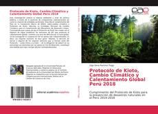 Capa do livro de Protocolo de Kioto, Cambio Climático y Calentamiento Global Perú 2018