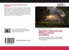 Capa do livro de Aportes literarios de Marta Leonor González