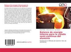Portada del libro de Balance de energía interna para la colada semi-continua del aluminio