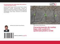 Bookcover of Caracterización de suelos bajo café y potrero , quebrada piedra verde