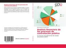 Bookcover of Análisis financiero de los procesos de contratación pública