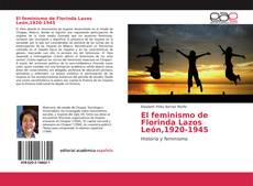 Обложка El feminismo de Florinda Lazos León,1920-1945