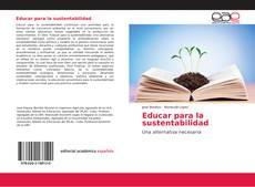 Portada del libro de Educar para la sustentabilidad