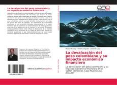 Capa do livro de La devaluación del peso colombiano y su impacto económico financiero