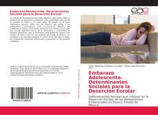 Couverture de Embarazo Adolescente. Determinantes Sociales para la Deserción Escolar