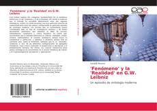 Capa do livro de 'Fenómeno' y la 'Realidad' en G.W. Leibniz