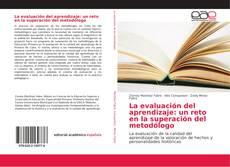 Bookcover of La evaluación del aprendizaje: un reto en la superación del metodólogo