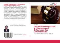 Bookcover of Despido Intempestivo a Personas con Enfermedades Catastróficas