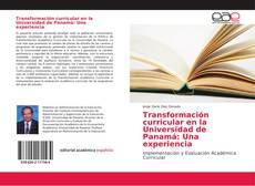 Capa do livro de Transformación curricular en la Universidad de Panamá: Una experiencia