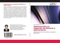 Portada del libro de Optimización en espacios de Banach y aplicaciones