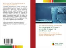 Capa do livro de Reciclagem de RCD para a produção de paver na construção civil