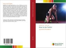 How to be Faster kitap kapağı