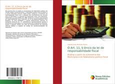 Capa do livro de O Art. 11, § Único da lei de responsabilidade fiscal