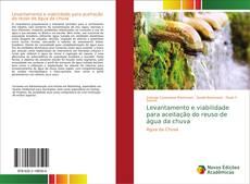 Capa do livro de Levantamento e viabilidade para aceitação do reuso de água da chuva