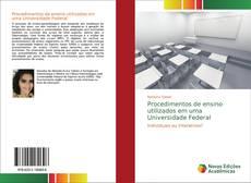 Capa do livro de Procedimentos de ensino utilizados em uma Universidade Federal