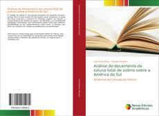 Capa do livro de Análise do decaimento da coluna total de ozônio sobre a América do Sul