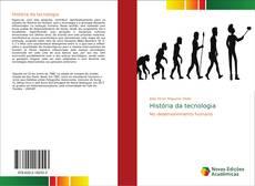 Capa do livro de História da tecnologia