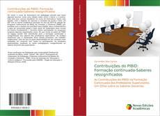 Capa do livro de Contribuições do PIBID: Formação continuada-Saberes ressignificados