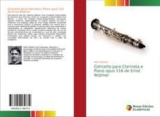 Capa do livro de Concerto para Clarineta e Piano opus 116 de Ernst Widmer