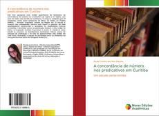 Portada del libro de A concordância de número nos predicativos em Curitiba