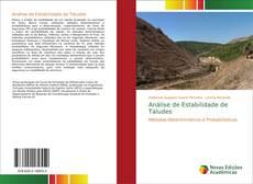 Portada del libro de Análise de Estabilidade de Taludes