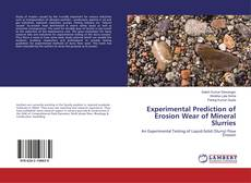 Buchcover von Experimental Prediction of Erosion Wear of Mineral Slurries
