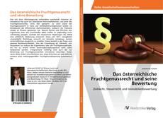 Bookcover of Das österreichische Fruchtgenussrecht und seine Bewertung
