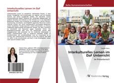 Portada del libro de Interkulturelles Lernen im DaF Unterricht